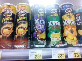 Pringles Hot N Spicy And Xtra Chips flavour by PoKeMoNosterfanZG