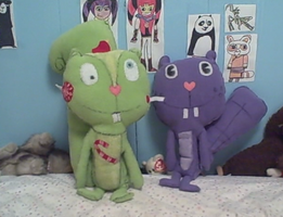 Life sized Nutty and Toothy by PlushBuddies