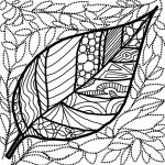 Leaf Tangle in Black and White by Artzmakerz