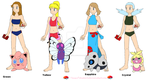 Pokemon Adventures Girls Swimsuits Part 1 by TeamPokeball