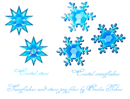 Cristal snowflakes stock by Hermit-stock