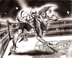 ADON vs SAGAT by TREINOR