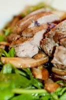 Lamb with porcinos by bfrena
