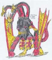 Ghidorah Necross by hewhowalksdeath