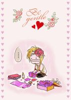 Be gentle - Reita card by Alzheimer13