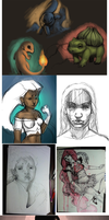 Current WIPS by NeverEndingMatti
