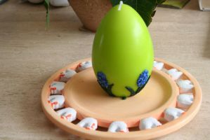 easter egg candle by ingeline-art