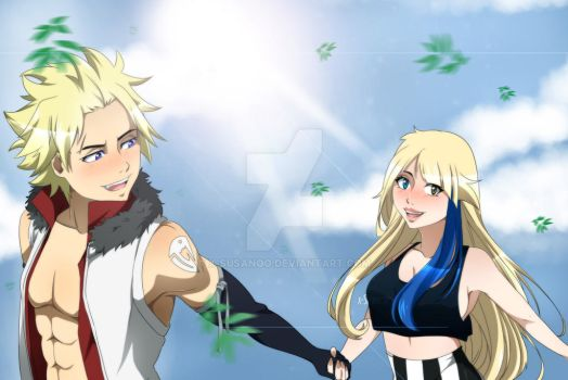    Fairy Tail   StiNa Holding Hands by X-SUSANOO