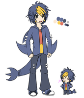 Takuya the Garchomp Gijinka by screms