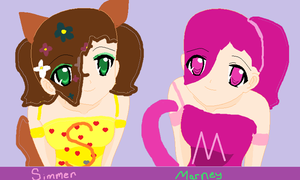 Simmer and Marney as humans by xXClovertheCat52Xx