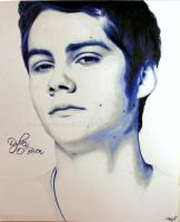 Dylan O'Brien Coloured Pencil by ashleymenard122