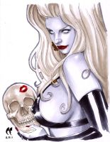 Lady Death Skull Kiss by daikkenaurora