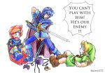 SSB Marth Roy and Young Link by Rachet777