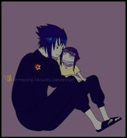 - Father and Daughter colored by Moony-14-Lucky