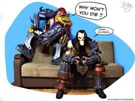 Darksiders War VS Death by MEG-Cosplay
