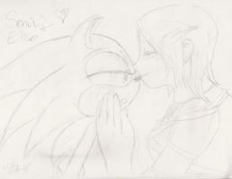SonicXElise: Kiss The Girl by Snowraichu