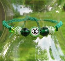 Eye in the Trees hemp bracelet by merigreenleaf