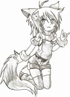 my drawing cat girl by SrtaGiuu