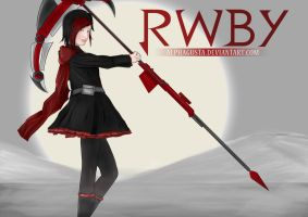 Ruby Rose (RWBY) also first finished art for 17y/o by Alphagusta