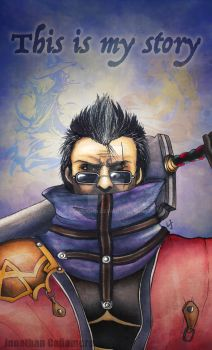 Auron from Final Fantasy X by LordJohn