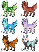 Canine Pups - 50 points each! (CLOSED) by necrovut