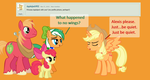 Ask Alexis #19-Princess Applejack by EmoshyVinyl