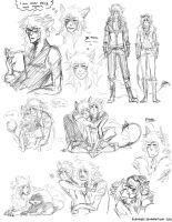AramOz Sketch Dump by lordmegi