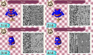Vyse Shirt QR Code for Animal Crossing New Leaf by Stevolteon