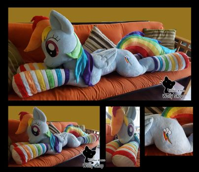 Rainbow dash plush by Vegeto-UchihaPortgas