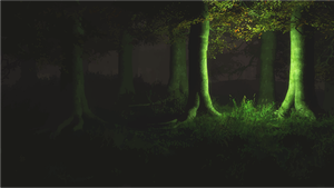 spooky forest by pataphysic