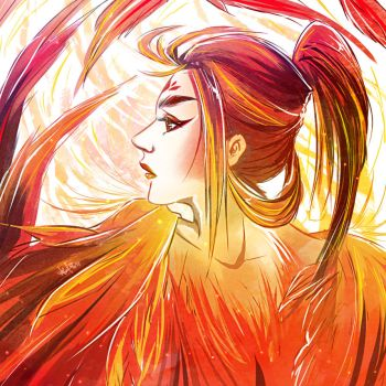 Fire Rooster by Qyrara