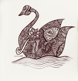 Swan (completed version) by AnanyaArts