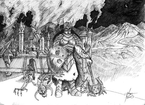 The Burning Stronghold by Nazgi