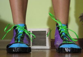 100percent Duct Tape High Tops by moonfreak