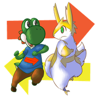 Commission-Yoshi and Trip by MasaBear