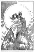 Batman and Wonder Woman by DrewEdwardJohnson