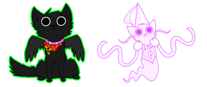 Bec Noir and Jaspersprite Chibis by rizusaur