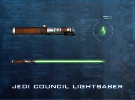 Jedi Council Lightsaber by R1EMaNN