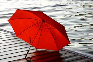 Red Umbrella. by kbeams