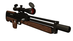 Walther WA-2000 Rifle (Material Render) Clean by MatchSignal3D