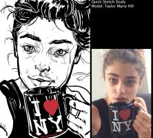 Taylor Marie Hill study by warballoon