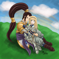 Lux and Xin Zhao by shn57