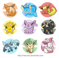 Eeveelutions V2 by macurris