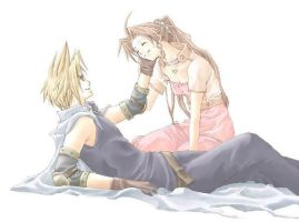 Aerith and Cloud by PhatGame