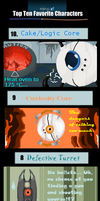 Top 10 Favourite Portal Characters by Twistanturnu