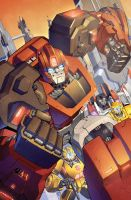 Transformers RID #5 cover colors by khaamar