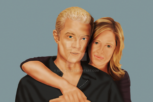 BtVS Fan Art: Spuffy in Love by xDrew23x