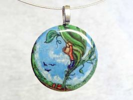 Jack and the Beanstalk Pendant by sobeyondthis
