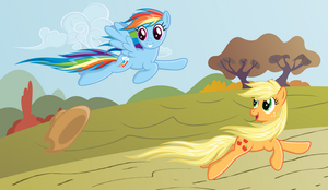 AJ and Dashie - Autumn run by Stabzor