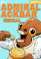 Admiral Ackbar Cereal by Pandazoic